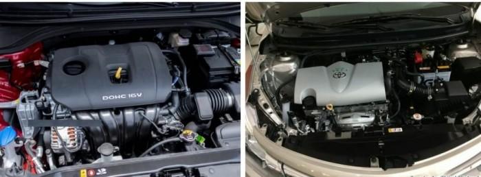 so sánh Toyota Vios hay Hyundai Elantra về động cơ