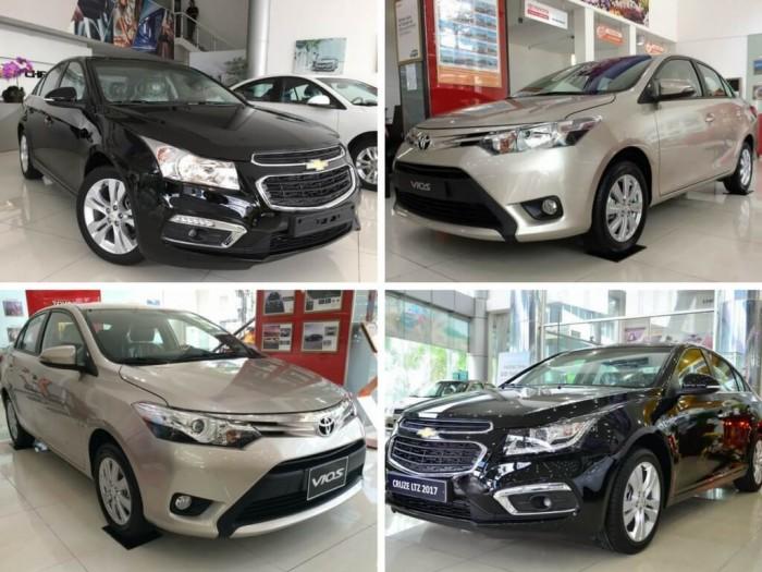 So sánh Toyota Vios và Chevrolet Cruze