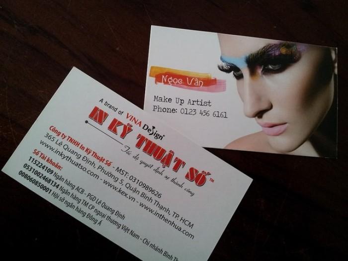 Mẫu card visit makeup