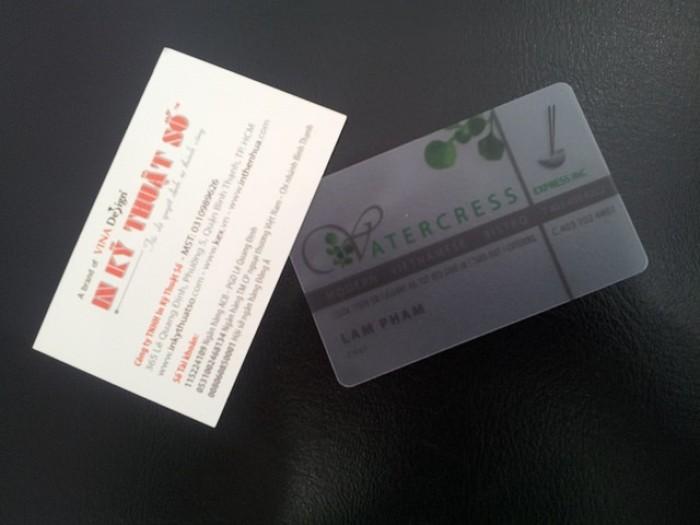 Mẫu card visit nhựa