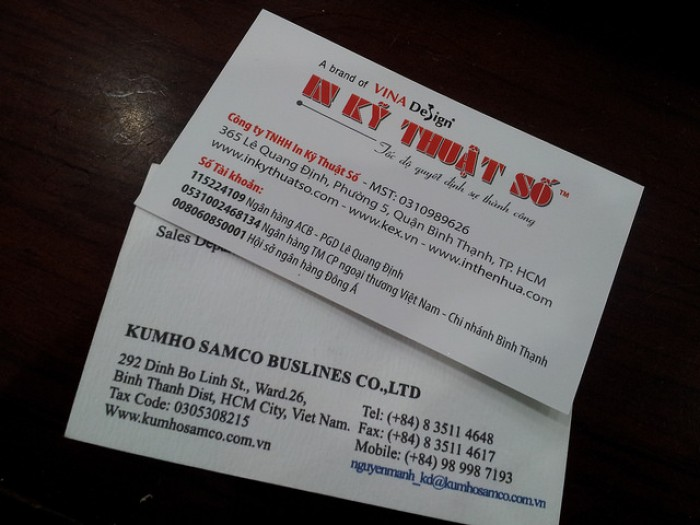 Mẫu card visit kinh doanh