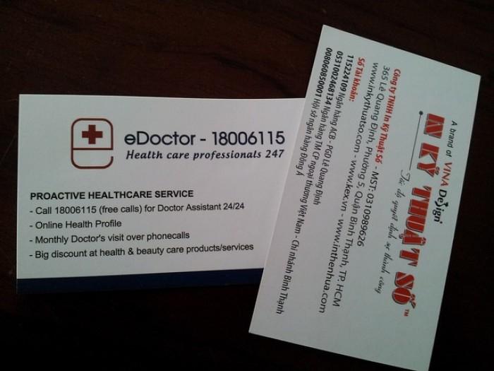 Mẫu card visit bác sĩ, card visit cho bác sĩ