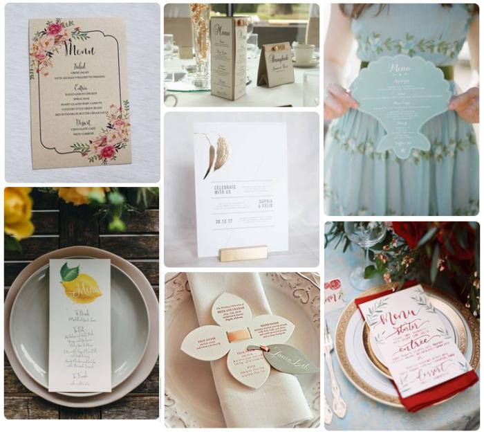 Mẫu in thực đơn tiệc cưới - tiếng Anh - mẫu 2