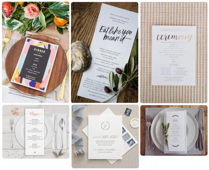Mẫu in thực đơn tiệc cưới - tiếng Anh - mẫu 3
