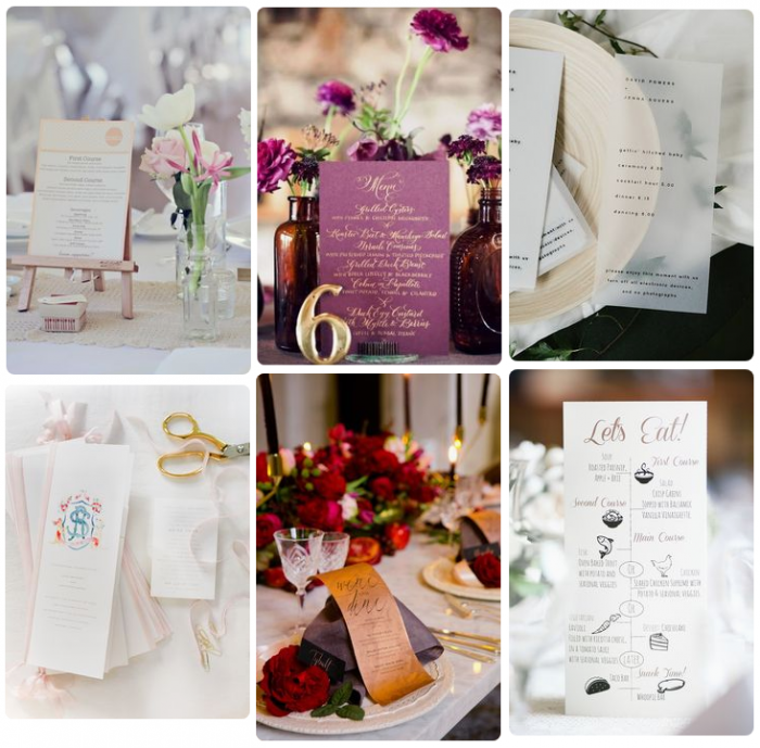 Mẫu in thực đơn tiệc cưới - tiếng Anh - mẫu 4