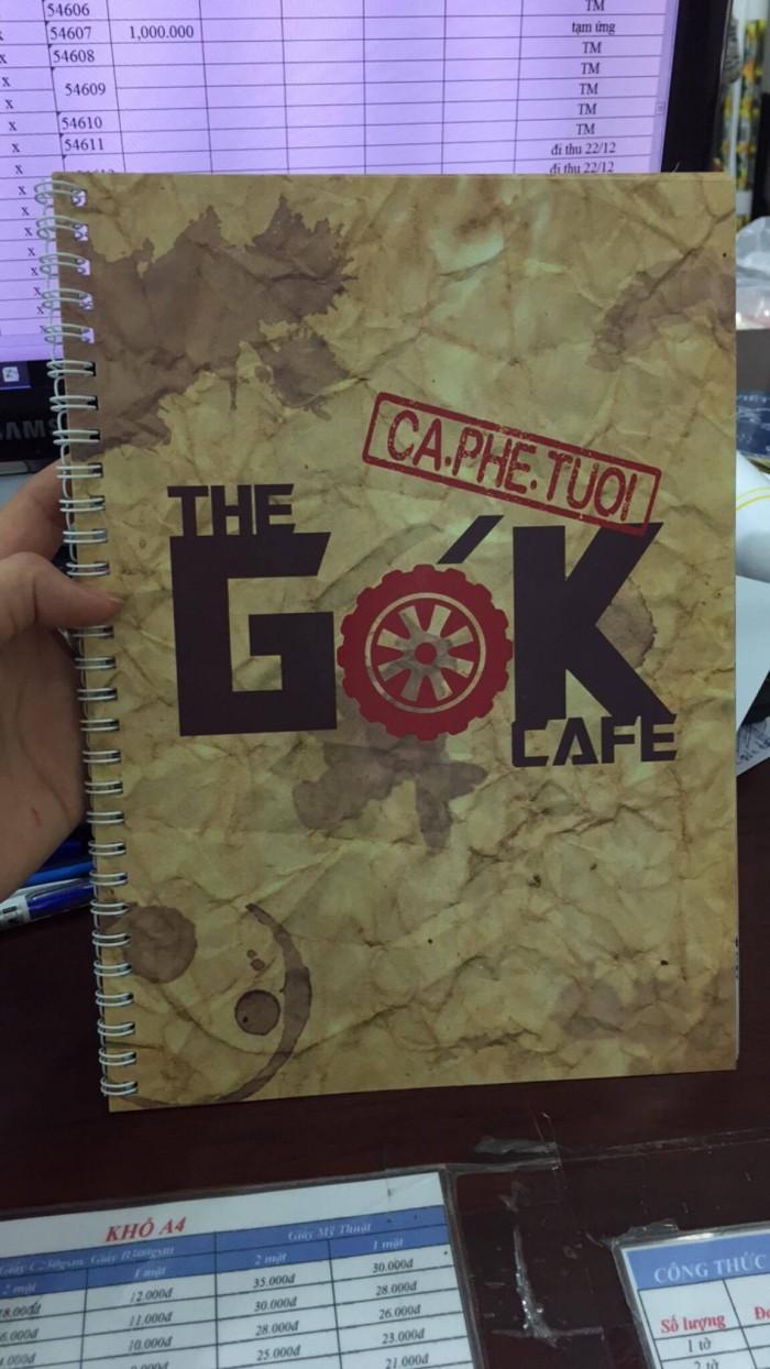 In menu giấy bồi bìa cứng