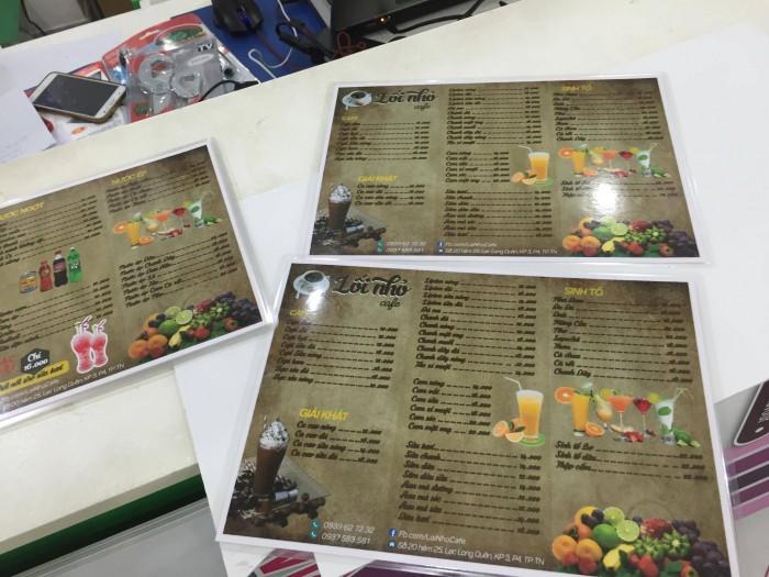 In menu giấy ép plastic