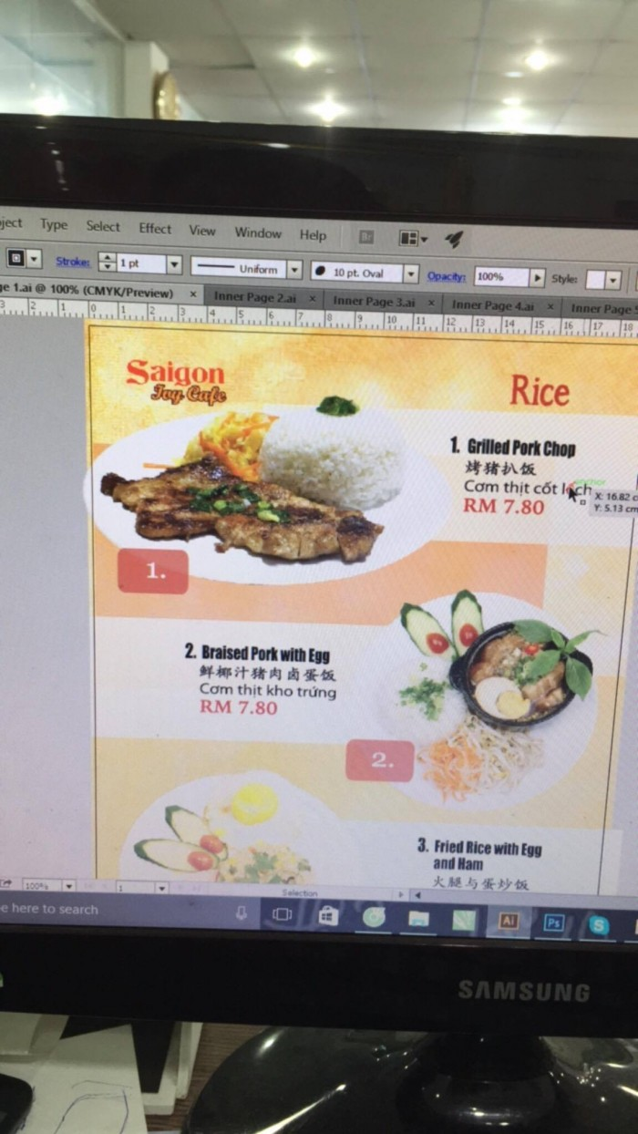 Phần mềm thiết kế menu cafe