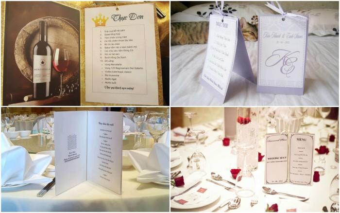 Mẫu in thực đơn tiệc cưới - mẫu 1