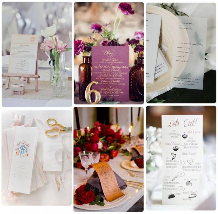 Mẫu in thực đơn tiệc cưới - mẫu 2
