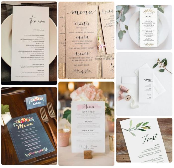 Mẫu in thực đơn tiệc cưới - mẫu 3
