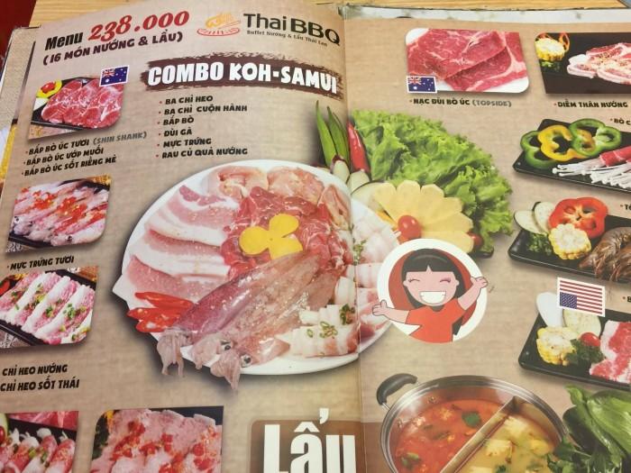 Mẫu in thực đơn quán ăn Thái Lan