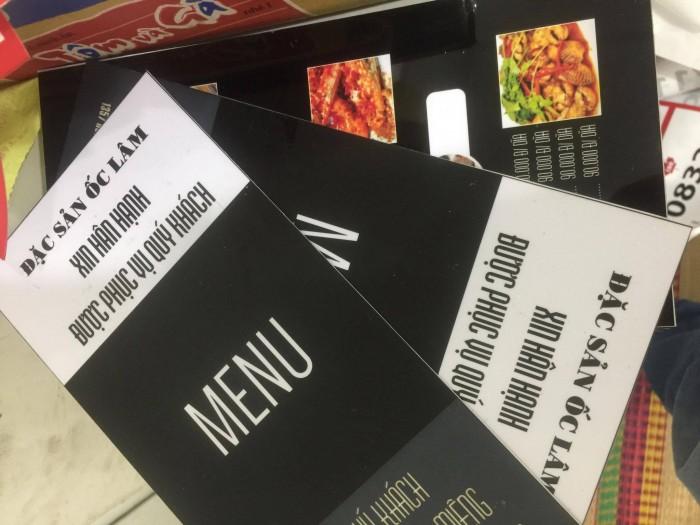 Địa chỉ làm menu giá rẻ - in menu cho quán ốc