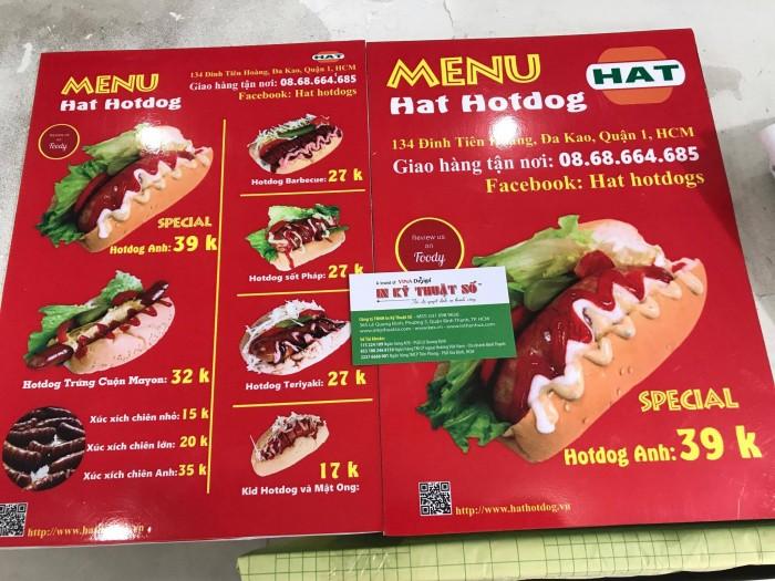 In menu giá rẻ cho quán thức ăn nhanh