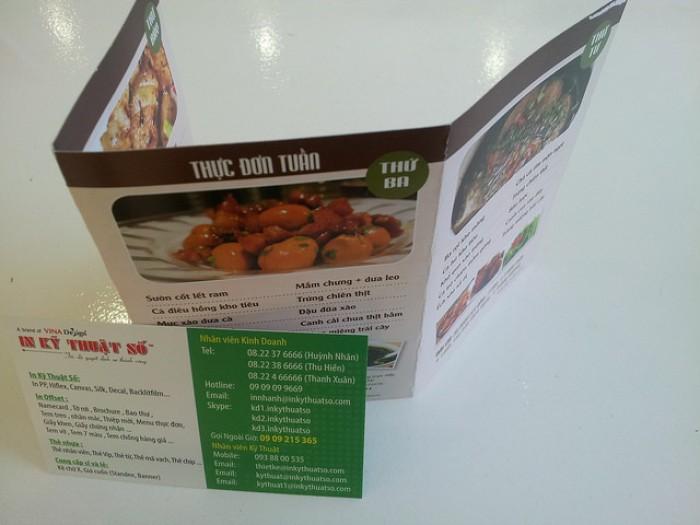In menu mini, in menu giấy ford