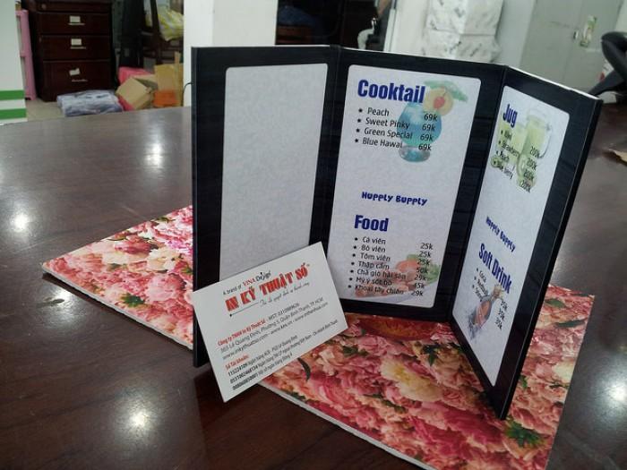 In menu để bàn