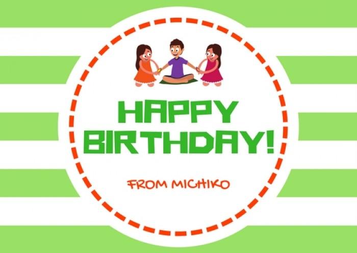 Thiệp mời sinh nhật bằng Tiếng Anh - mẫu 3