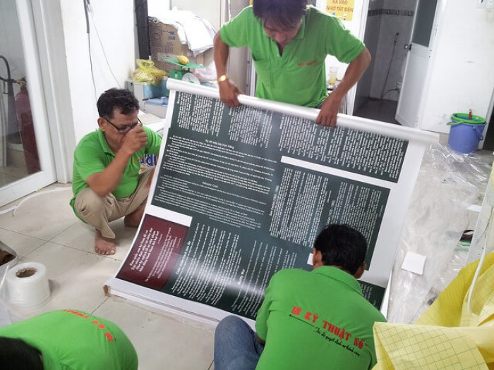 Gia công in PP bồi formex
