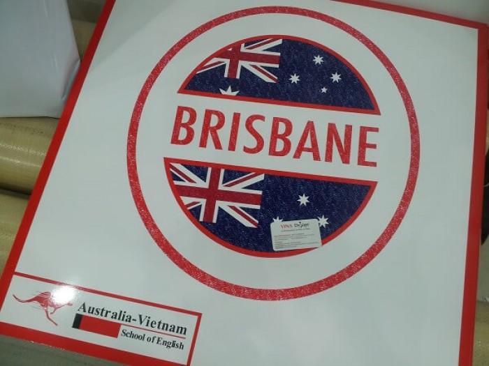 In PP dán formex logo trường ngoại ngữ Brisbane - Australia-Vietnam - Shool of English