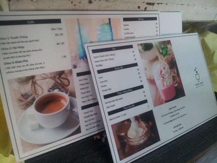 In PP bồi formex làm menu khổ lớn tại các quán cafe