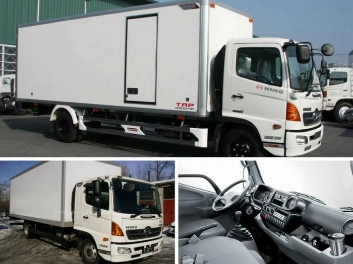 xe tải hino 6.2 tấn thùng kín