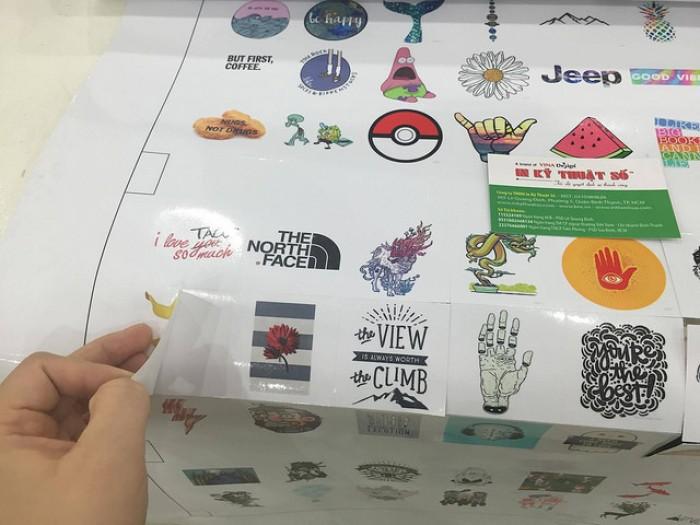 In sticker với nhiều hình