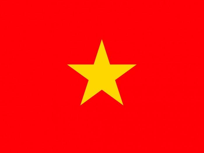 Mẫu in sticker cờ dán má cờ Việt Nam