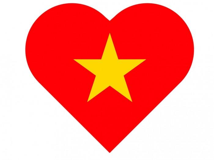 Mẫu in sticker miếng dán cờ Việt Nam