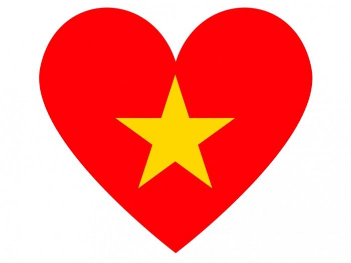 Mẫu in sticker decal cờ Việt Nam