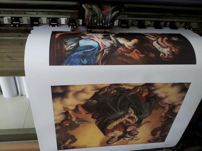 In tranh canvas - in tranh vải bố