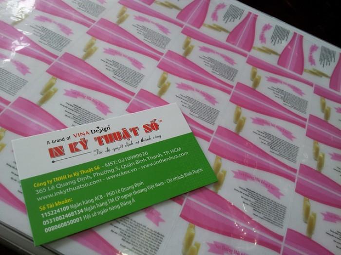 In tem nhãn mỹ phẩm - sản phẩm sáp dưỡng môi hồng xinh