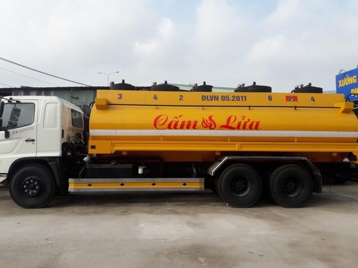 Giá xe tải Hino bồn xăng 19 khối