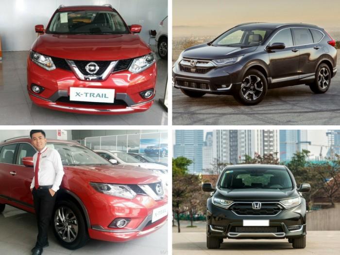 Xe Nissan X-Trail 2018 và Honda CR-V 2018 là hai dòng xe cùng phân khúc vì vậy có nhiều người không biết nên chọn dòng xe nào là tốt nhất. Mỗi xe sẽ có những ưu điểm và hạn chế khác nhau, tuy nhiên cả hai dòng xe này đều được khách hàng đánh giá cao trong những năm gần đây. Sau đây chúng tôi sẽ so sánh xe Nissan X-Trail 2018 và Honda CR-V 2018, bạn có thể tham khảo để có được sự chọn lựa tốt nhất cho mình nhé!