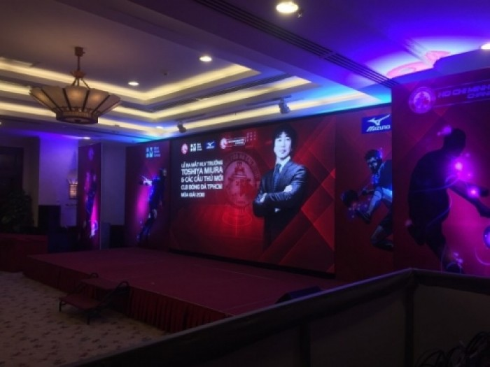 Cho thuê màn hình Led P3 - Lễ ra mắt HLV Toshiya Miura