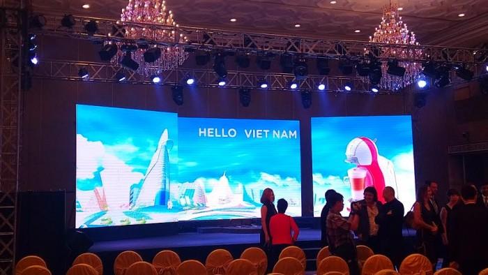 Lắp đặt màn hình Led P3 - Lễ ra mắt máy pha chế cà phê MiNi Me của hãng Nestllé Việt Nam