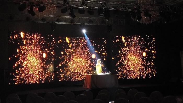Hình ảnh sống động từ màn hình Led P3 - Lễ ra mắt máy pha chế cà phê MiNi Me của hãng Nestllé Việt Nam