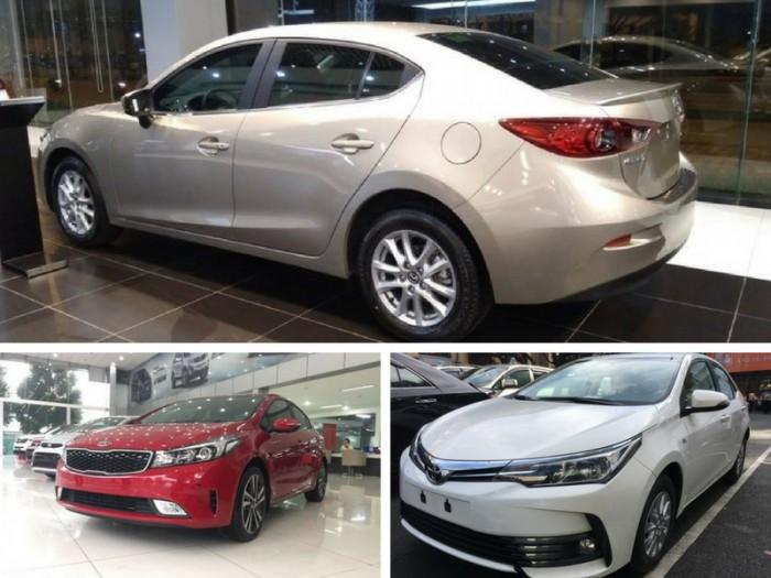 700 triệu nên mua xe gì? Toyota Altis, Mazda 3 hay Kia Cerato?