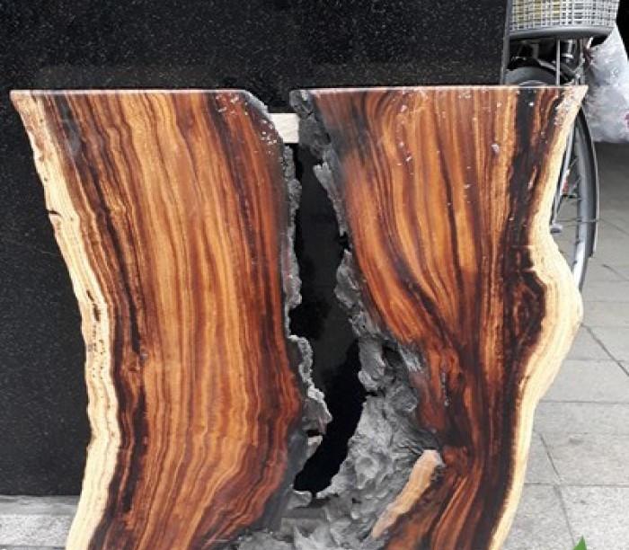 Tư vấn chọn mua: nhận biết mặt bàn gỗ nguyên tấm làm từ gỗ me tây thật giả