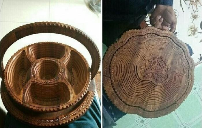 Mẫu khay gỗ đựng bánh biến hình độc đáo
