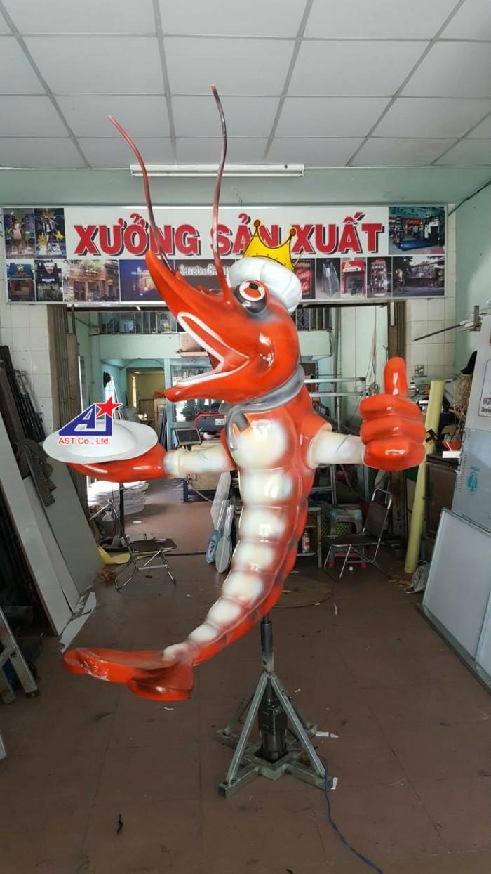 Thiết kế & thi công mô hình composite linh vật cho quán ăn, quán nhậu hải sản