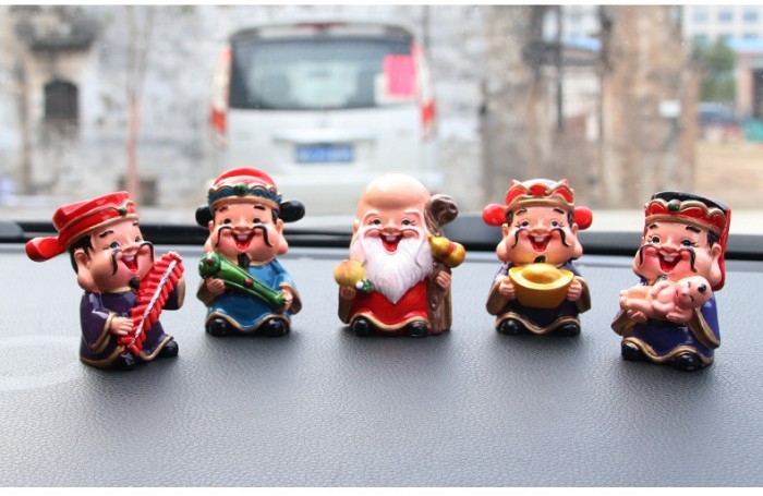 [Hot trend] Bộ tượng 5 ông thần tài ngộ nghĩnh trang trí ô tô, bàn làm việc