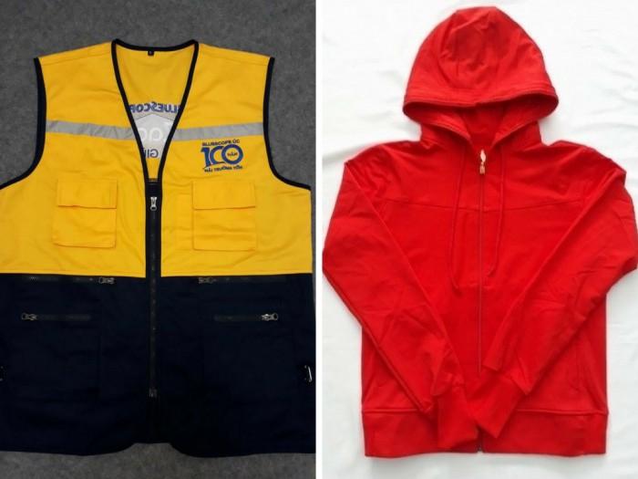 Xưởng may áo khoác giá rẻ tại TPHCM, chuyên may áo khoác thể thao, áo khoác chống nắng