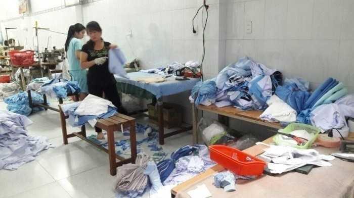 Xưởng may áo thun đồng phục TPHCM - phân xưởng may gia công