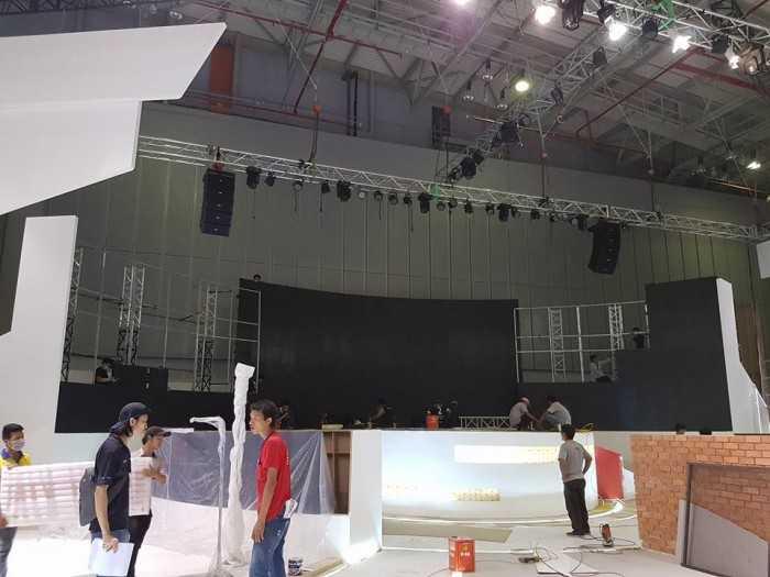 Công trình lắp đặt màn hình Led sân khấu trong nhà phục vụ chương trình sự kiện
