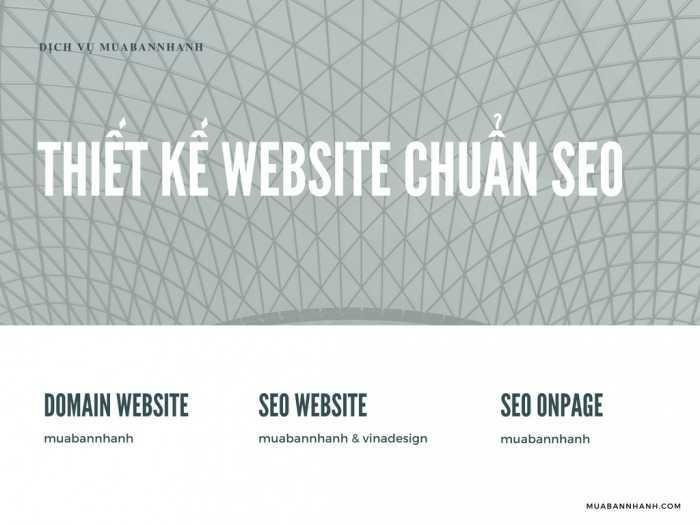 Dịch vụ thiết kế website chuẩn SEO là gì?