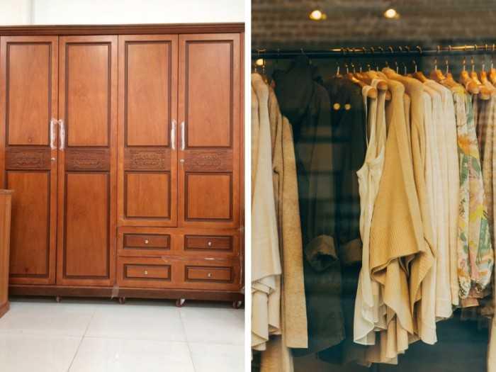Mẫu tủ quần áo gỗ tự nhiên đẹp