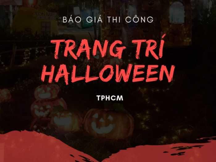 Báo giá thi công trang trí Halloween TPHCM - Trang trí Halloween trung tâm thương mại, quán bar, quán cafe, trường học quốc tế, văn phòng công ty