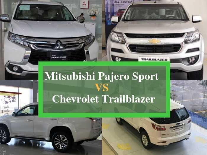 So sánh giá, hiệu năng Chevrolet Trailblazer và Mitsubishi Pajero Sport