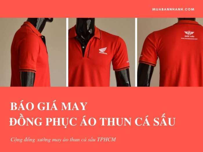Báo giá may đồng phục áo thun cá sấu - xưởng may áo thun cá sấu TPHCM