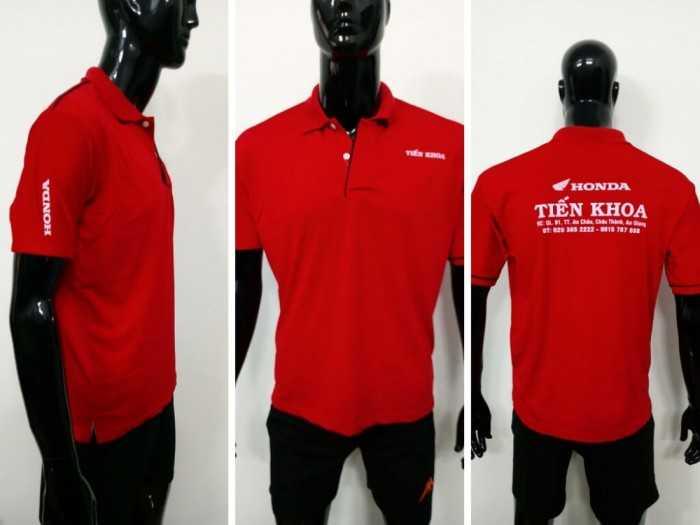 Mẫu áo thun cá sấu màu đỏ - Xưởng may áo thun bỏ sỉ